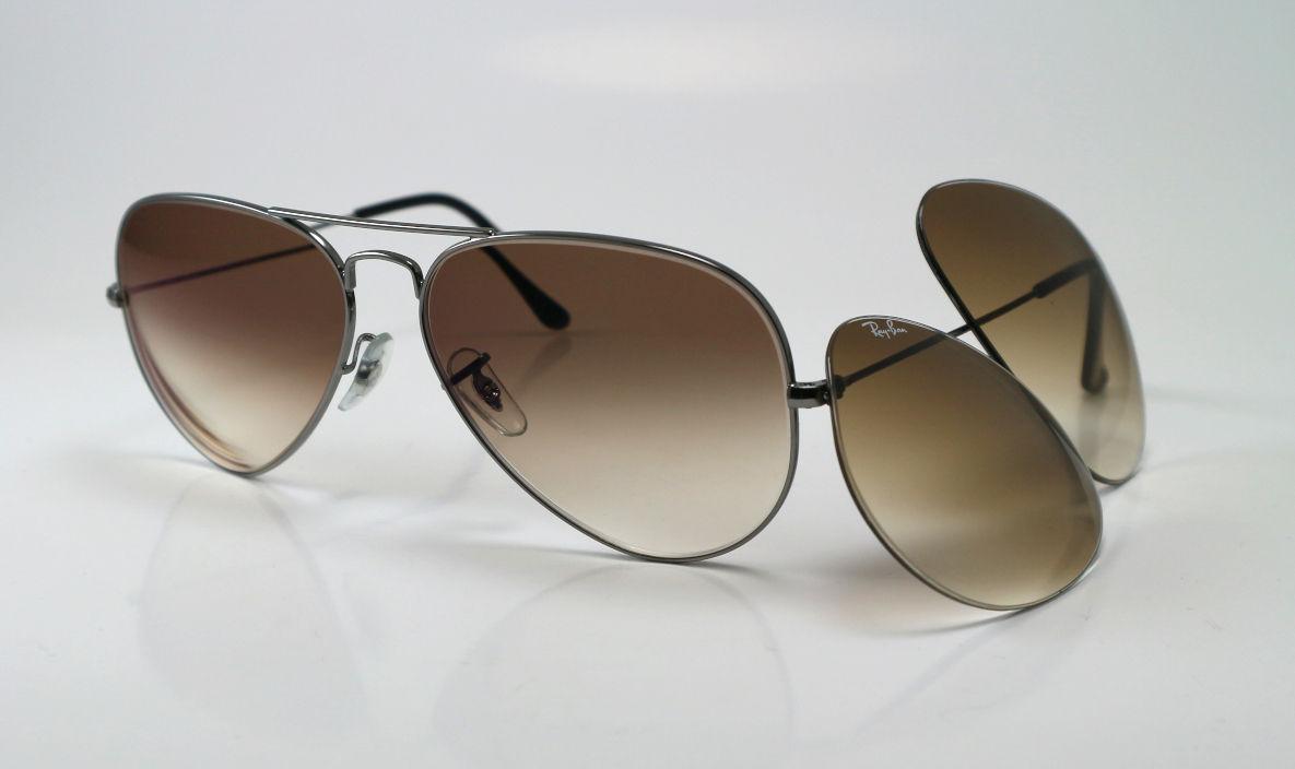 52199b78dbc40b Ray-Ban zonnebril met bruine dégrade glazen op sterkte